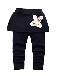 billige Bukser og leggings til piger-Spædbarn Baby Pige Simple Aktiv Ferie Ensfarvet Bomuld Bukser