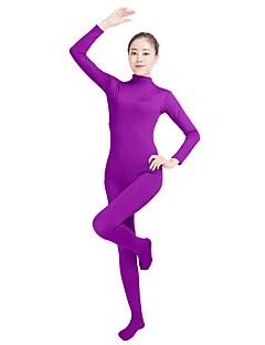 billige Zentai-Zentai Drakter Mote Zentai Cosplay-kostymer Turkis Lilla Brun Blå Rosa Ensfarget Mote Zentai Lycra® Herre Dame Halloween Karneval