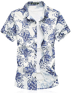 cheap Men's Shirts-Men's Beach Business Shirt - Floral, Print