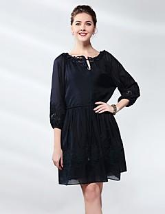 Χαμηλού Κόστους UNE FLEUR-Γυναικεία Φαρδιά Φόρεμα - Μονόχρωμο, Βασικό