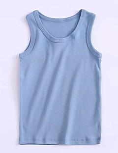 tanie Odzież dla chłopców-Dla chłopców Codzienny Jendolity kolor Tanktop / koszulka na ramiączkach, Bawełna Wiosna Lato Bez rękawów Aktywny Niebieski Brown White