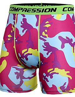 billiga Träning-, jogging- och yogakläder-Herr Tätsittande träningsshorts - Grå, Röd+Blå, Kamoflage sporter Kamouflage Elastan Shorts Sportkläder Lättvikt, Torkar snabbt,