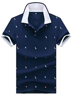 お買い得  メンズポロシャツ-男性用 Polo アジアン・エスニック 動物