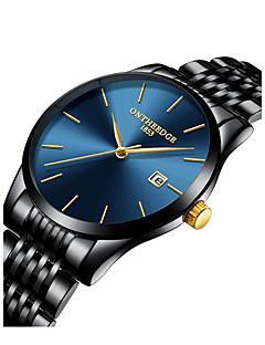 저렴한 럭셔리 시계-남성용 드레스 시계 일본어 블랙 / 실버 / 골드 30 m 방수 크로노그래프 큰 다이얼 아날로그 사치 미니멀리스트 - 골드 실버 / 블랙 골드 / 화이트 2 년 배터리 수명