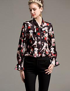 billige Dametopper-Skjortekrage Skjorte Dame - Dyr Grunnleggende