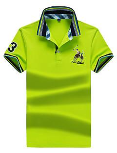 cheap Men's Polos-Men's Sports Active Cotton Slim Polo - Solid Colored Basic Shirt Collar / Short Sleeve