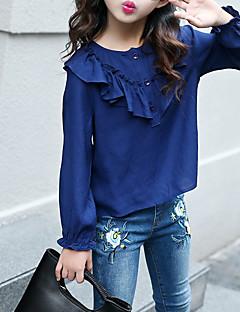 tanie Odzież dla dziewczynek-Koszula Bawełna Dla dziewczynek Jendolity kolor Wiosna Jesień Beige Navy Blue