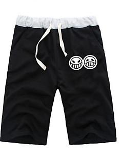"""billige Anime Kostymer-Inspirert av One Piece Monkey D. Luffy Anime  """"Cosplay-kostymer"""" Cosplay Topper / Underdele Ensfarget / Animé ½ Pant Shorts Til Alle Halloween-kostymer"""