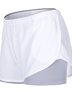 billiga Träning-, jogging- och yogakläder-Dam Joggingshorts - Vit, Svart sporter Enfärgad Shorts Sportkläder Torkar snabbt Oelastisk