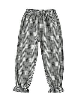 billige Bukser og leggings til piger-Børn Pige Ruder Bukser