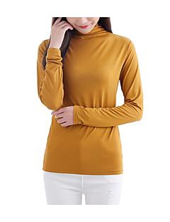 baratos Tops-Mulheres Camiseta - Feriado Vintage / Básico Sólido