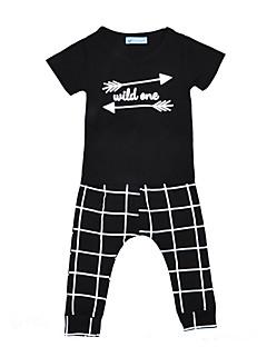 tanie Odzież dla chłopców-Dla chłopców Prążki Krótki rękaw Komplet odzieży