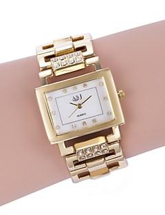 billige Armbåndsure-ASJ Dame Quartz Armbåndsur Japansk Afslappet Ur Legering Bånd Luksus Mode Hvid Guld