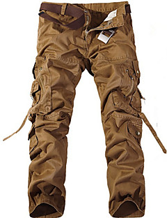 baratos Calças e Shorts para Trilhas-Homens Calças Cargo Ao ar livre Vestível, Fitness, Trilha Inverno Calças Exercicio Exterior / Multi-Esporte
