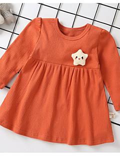 billige Babytøj-Baby Pige Ensfarvet Langærmet Bluse