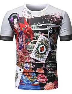 billige Herremote og klær-T-skjorte Herre - Blomstret, Trykt mønster Grunnleggende