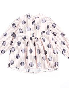 billige Pigetoppe-Børn Pige Prikker Langærmet Skjorte
