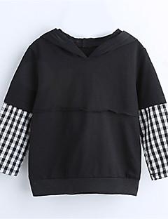 tanie Odzież dla chłopców-Dla chłopców Codzienny Jendolity kolor Bluza z kapturem / bluza, Poliester Wiosna Jesień Długi rękaw Aktywny Black