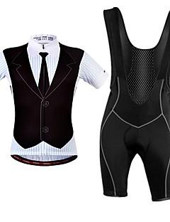 billige Sykkelklær-WOSAWE Kortermet Sykkeljersey med bib-shorts - Svart Sykkel