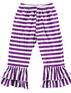 billige Bukser og leggings til piger-stribet pige daglige polyester forårskjole søde lilla rødme pink rød orange