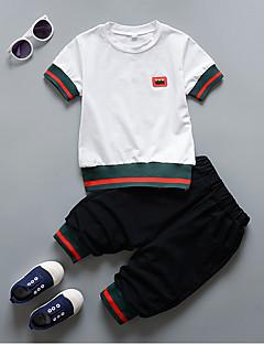 preiswerte Kleidersets für Jungen-Jungen Solide Kurzarm Kleidungs Set
