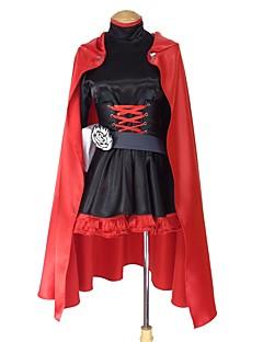 """billige Anime Kostymer-Inspirert av RWBY Ruby Rose Anime  """"Cosplay-kostymer"""" Cosplay Klær Annen Langermet Kjole / Kappe / Mer Tilbehør Til Herre / Dame Halloween-kostymer"""