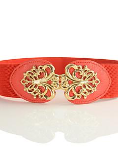 billige Trendy belter-Dame Vintage Grunnleggende Bredt belte - Uthult
