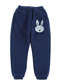 billige Bukser og leggings til piger-Børn Pige Trykt mønster Jacquard Vævning Bukser