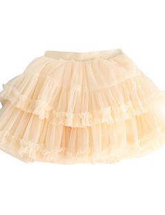 billige Pigenederdele-solid farvet piges daglige polyester sommer kjole lilla beige rødme pink