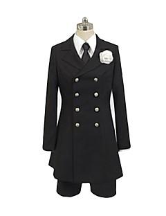 """billige Anime Kostymer-Inspirert av Svart Tjener Ciel Phantomhive Anime  """"Cosplay-kostymer"""" Cosplay Klær Annen Langermet Trøye Genser Bukser Mer Tilbehør Slips"""