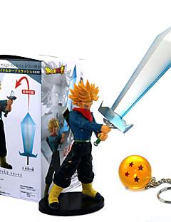 billige Anime cosplay-Anime Action Figurer Inspirert av Dragon Ball Son Goku PVC 21cm CM Modell Leker Dukke