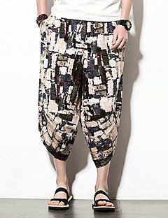 billige Herrebukser og -shorts-Herre Vintage Harem Chinos Bukser Geometrisk