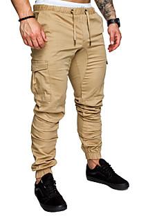 billige Herrebukser og -shorts-Herre Grunnleggende Chinos Bukser Ensfarget