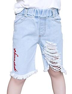 preiswerte Jeanshosen für Mädchen-Kinder Mädchen Solide Jeans