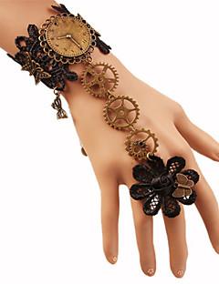 billiga Lolitaaccessoarer-Gotiskt Svart lolita tillbehör Vintage / Spets Armband / Fotledsband Spets