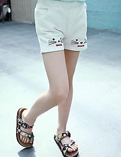billige Bukser og leggings til piger-Børn Pige Kat Ensfarvet Uden ærmer Jeans