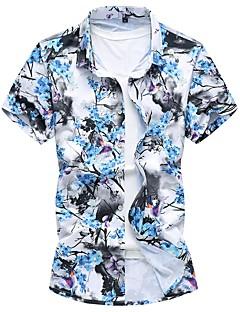billige Herre Mode Beklædning-Herre - Blomstret Basale Skjorte
