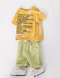 billige Tøjsæt til drenge-Børn Drenge Trykt mønster Kortærmet Tøjsæt