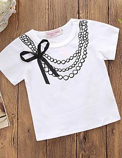 billige Pigetoppe-Baby Pige Trykt mønster Kortærmet T-shirt