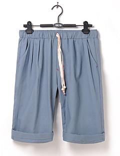billige Herre Mode Beklædning-Herre Løstsiddende Bredt Bukseben Bukser - Delt, Ensfarvet