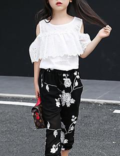 billige Tøjsæt til piger-Børn Pige Geometrisk Kortærmet Tøjsæt