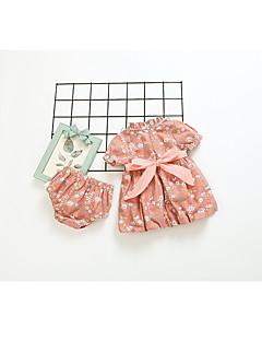 billige Tøjsæt til piger-Børn Baby Pige Blomstret Kortærmet Tøjsæt