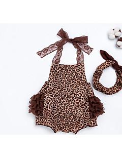billige Babytøj-Baby Pige Leopard Uden ærmer En del