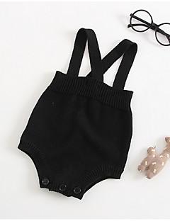 billige Babytøj-Baby Unisex Ensfarvet Uden ærmer Overall og jumpsuit