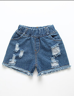 billige Bukser og leggings til piger-Børn Pige Ensfarvet Bukser