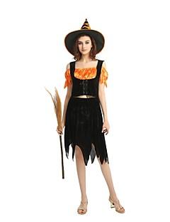 billige Halloweenkostymer-Trollmann / heks Drakter Unisex Halloween / De dødes dag / Maskerade Festival / høytid Halloween-kostymer Svart Ensfarget / Halloween