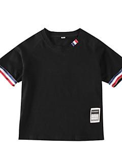 billige Overdele til drenge-Børn Drenge Patchwork Kortærmet T-shirt