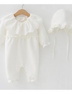 billige Babytøj-Baby Pige Ensfarvet Halvlange ærmer Overall og jumpsuit