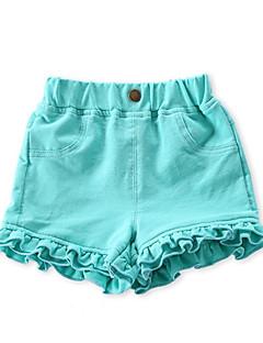 billige Babytøj-Baby Pige Basale Ensfarvet Bomuld Shorts