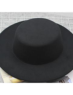 billige Hatter til damer-Dame Vintage Bøttehatt Ensfarget Polyester / Søtt / Vår / Sommer